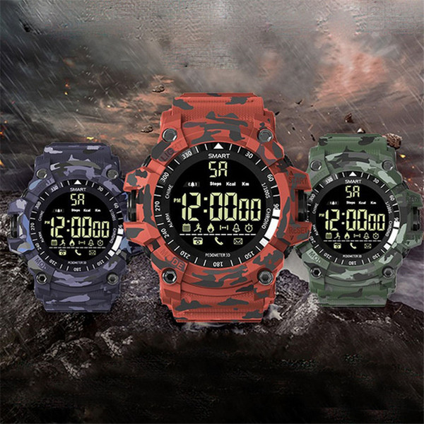 EX16 Sports Smart Watch Bluetooth IP67 waterproof Remote Camera Fitness Tracker Wearable Technology Running wristwatch STY170