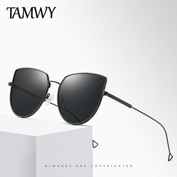 TAMWY Marque Design Femmes Cat eye Lunettes De Soleil Femme Rétro Style Polarisé Lunettes Shades UV400 Oculos de sol Feminino T1963