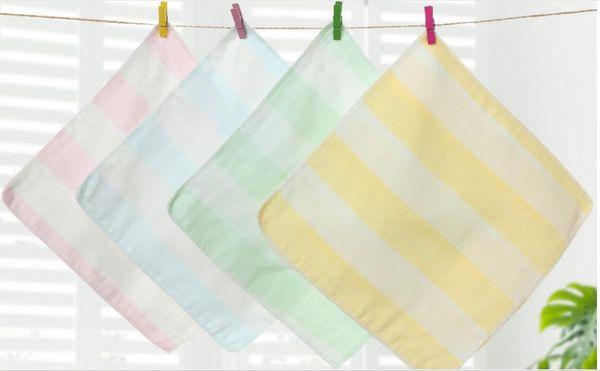 Saliva towel four packs rainbow gauze maternity store gift newborn cotton small square towel wash handkerchief
