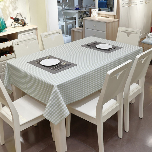 PVC Waterproof And Household Oil Proof Table Cloth 4 Designs Rectangle Latticed Tea Table Colth Offfice Desk Washfree Covering Cloth