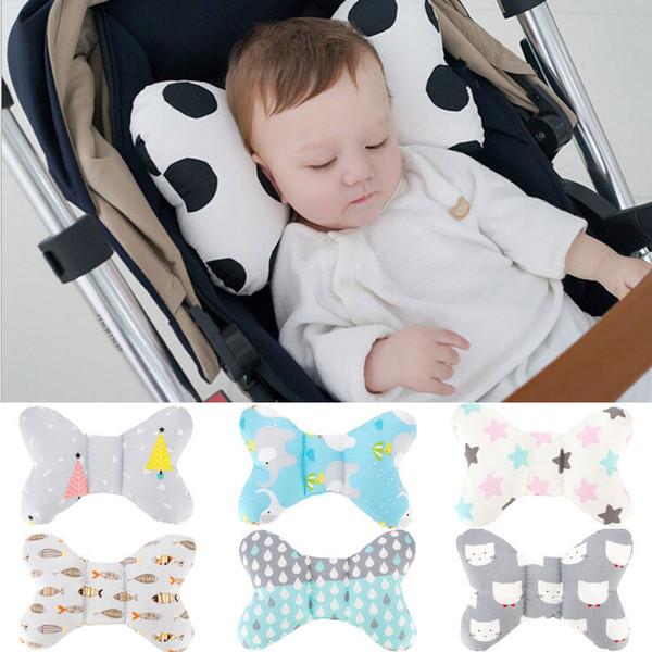 Infant Newborn Baby Anti Roll Pillow Cushion Prevent Flat Head Sleep Support UK