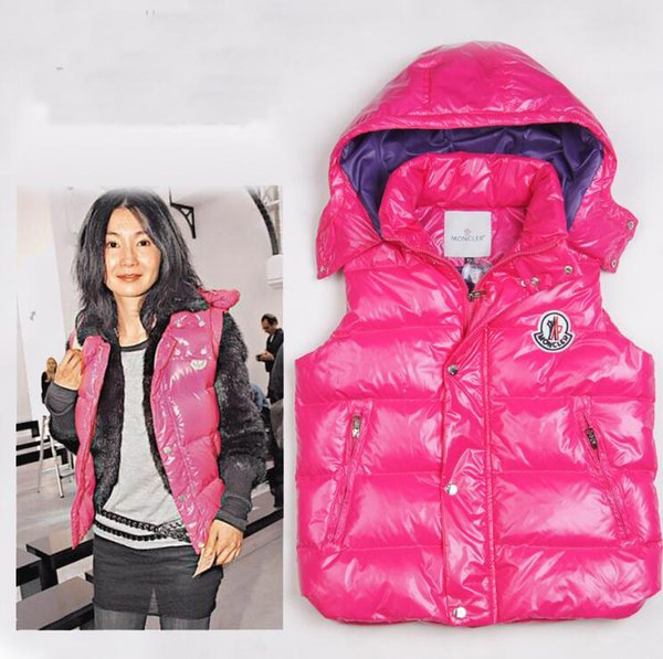 Hot Sale Fashion M Brand Winter Down Vest for Women Coat Slim Vests Female Sleeveless Jacket 90% Real duck down