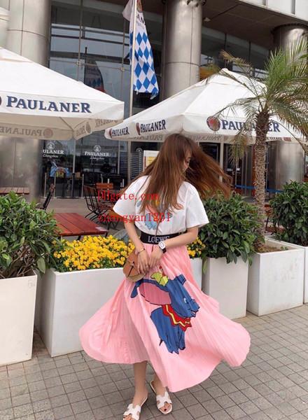 2019 marke mode frauen kleider rundhals kurzarm tops + miniröcke 2 stück kleid freizeit frauen kleidung vl-t7