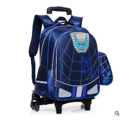 Student School Trolley Backpack Bag For Boy Mochila escolar con ruedas Rollos para niños Mochila con ruedas para los niños