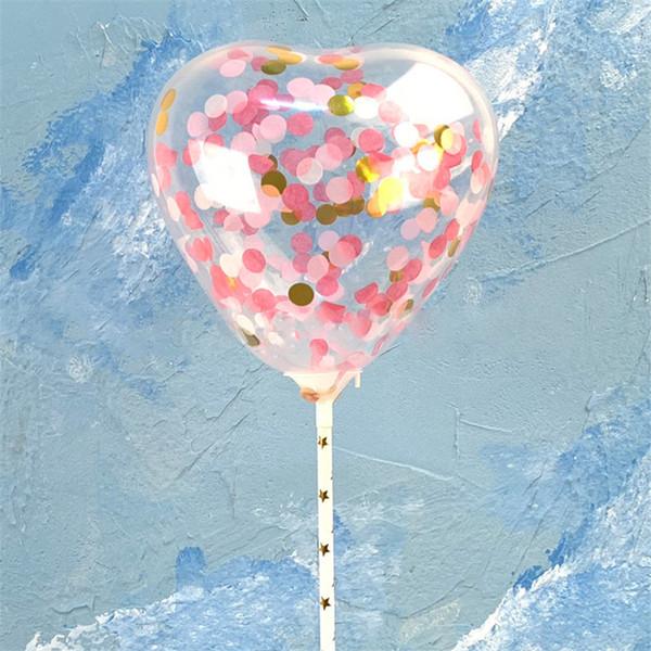 Valentinstag Liebe Herz Ballon Pailletten Bling Cake Luftballons Festival Birthday Party Supplies Dekoration Hochzeit Paillette Airballoon Nachrichten