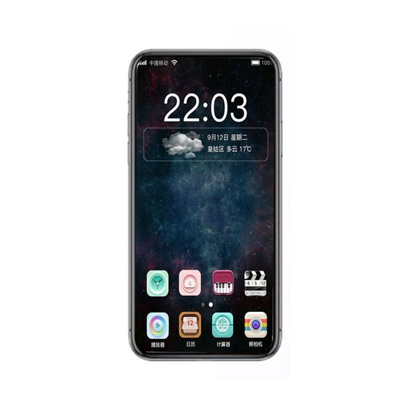 Goophone i8 XS MAX Quad Core MTK6580 Face ID Android Cellphones 1GB 16GB Show Fake 256G/512GB 4Glte Unlocked Phone With Sealed Box