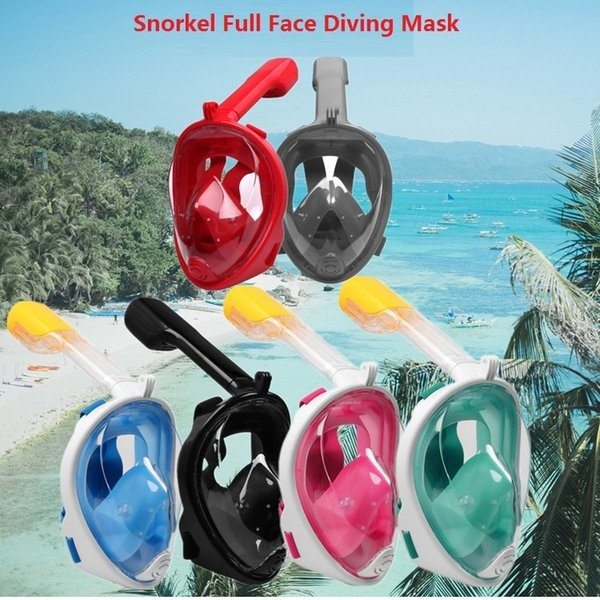 S/M L/XL Latest Underwater Diving Mask Snorkel Set Swimming Training Scuba mergulho full face snorkeling mask Anti Fog For Camera