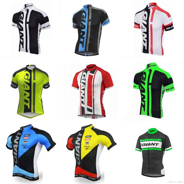GIANT team Cycling jersey 2018 Neue Ankunft Radtrikots Fahrrad Herren Sommer schnell trocken Radfahren Top C3013