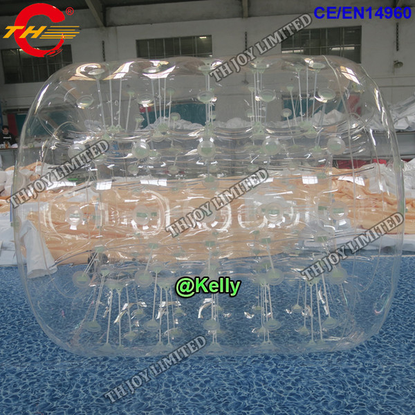 free door shipping transparent inflatable water roller for sale, durable inflatable water walking ball, summer water pool sport game toys