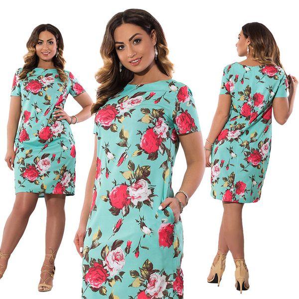 Plus Autumn Size Dress Europe Female Fashion Printing Large Sizes Pencil Midi Dress Women's Big Size Clothing 6xl Vestidos designer clothes