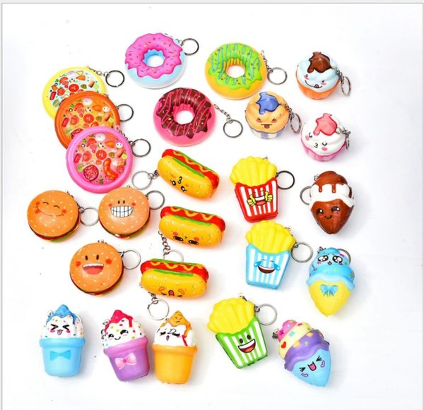 Mixing Bread Doughnut Icecream Squishy Toy Slow Rising Jumbo Stress Relieve Dolls Multicolor Children Squeeze Toys Kids Decompression Toys