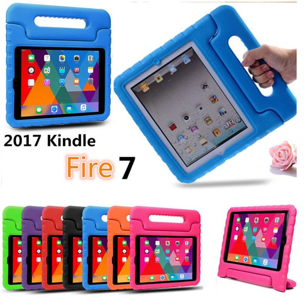 Amazon Fire 7 Tablet PC With Alexa 2017/2015 Children'S Shockproof Case  With Bracket Case Cover Cases For Cell Phones Cell Phone Carrying Case From