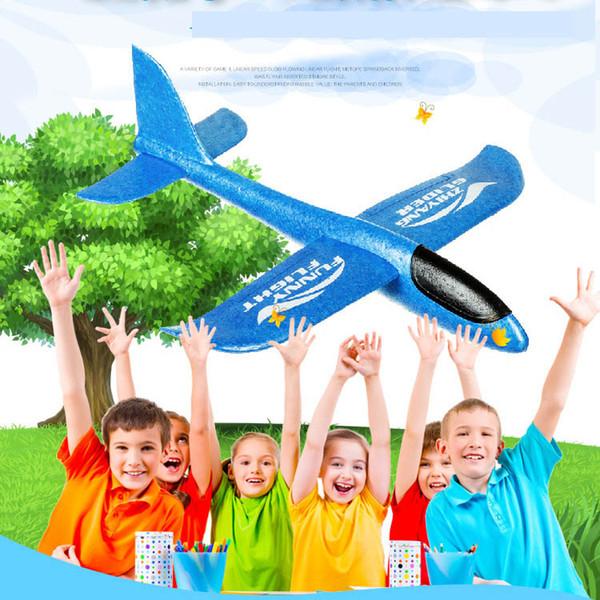 4 цвета 48см EPP пены Ручной Бросьте Самолет Открытый Launch планер самолета Дети самолета игрушка подарка Бросив Planes Интересные игрушки C2