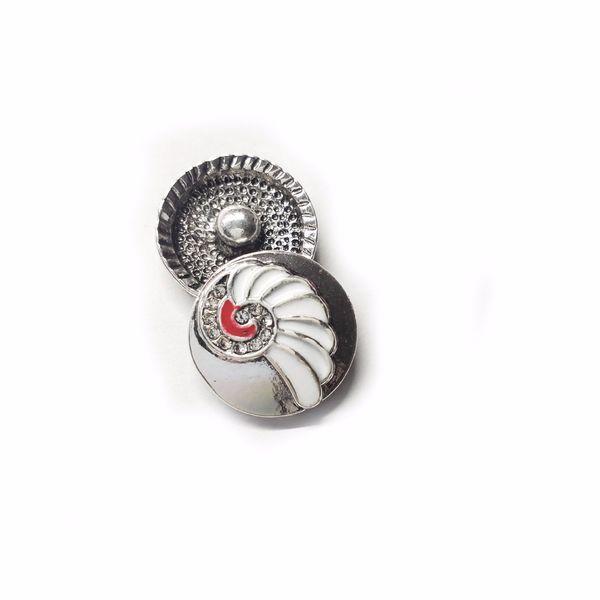 Yeni 20 adet Snap Düğmesi Takı birçok renkler Güzellik yapraklar Snap Düğmesi Fit DIY 18mm Bilezik Bileklik Aksesuarları