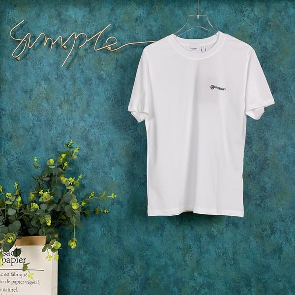 2020ss весной и летом новый высококачественный хлопок печати короткий рукав круглый шею панель T-Shirt Размер: M-L-XL-XXL-XXXL Цвет: черный белый qs6