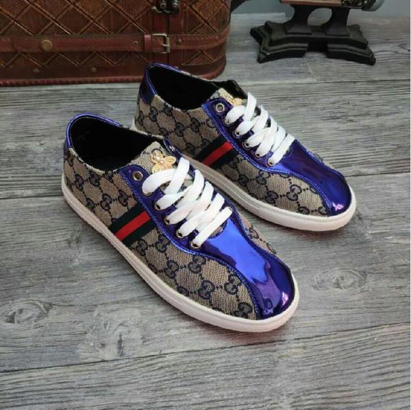 Design de luxo, lona clássica para homens e mulheres igualmente sapatos de design de marca plana, sapatos casuais dos homens calçados casuais das mulheres, sapatos de condução