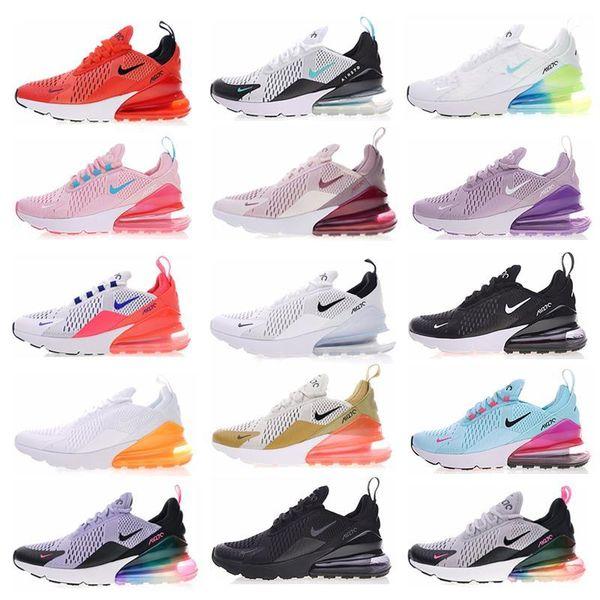 top popular 270 Vapors Running Men Shoes Olive Bruce Lee Rainbow TN 27C Triple Airs University Splashing ink Maxes 270s Woman Sneakers Size 36-45 2019