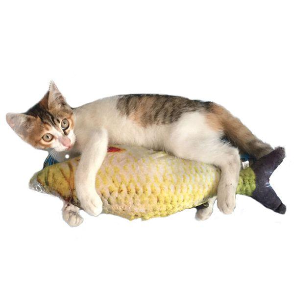 Kedi Favor Balık Oyuncak Kedi Nane Dolması Balık Şekli Sisal Scratch Kurulu Ürünler için Pet Malzemeleri Tırmalama Sonrası