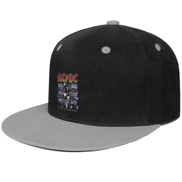 ACDC blow up your video rock Snapback Baseball Cap Fitted 100% Cotton Caps Adjustable Fits Adult Men Womens Hat