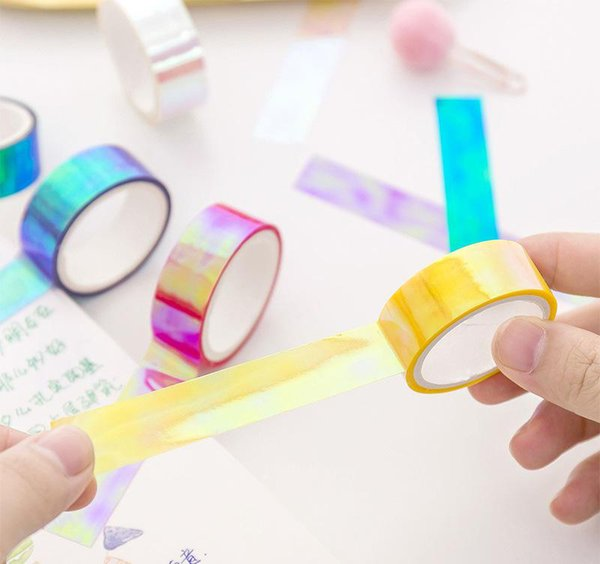 top popular Waterproof Adhesive Tape Color Washi Tape Diy Decorative Scrapbooking Masking Tape Color Label Sticker Stationery 2016 2019