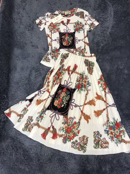Gonna stampata nuove lettere primavera ed estate moda elegante ricami casual moda ricami moda donna
