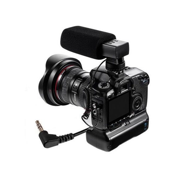 DSLR Camera DV Microphone Shockproof Stereo Anti-interference Recording Interview Mic 3.5mm Connector Plug and Play