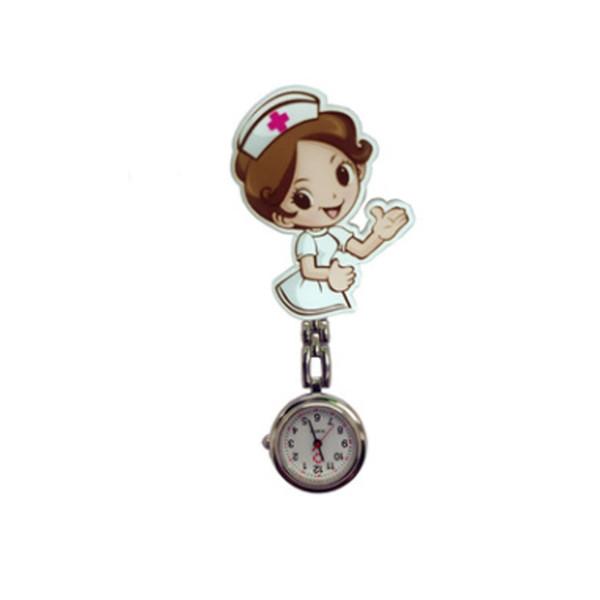 Trendcy Belle fleur Cartoon ange filles 3D dames femmes Infirmière Montres unisexe Médecin FOB Pocket Suspendez Montres Clip