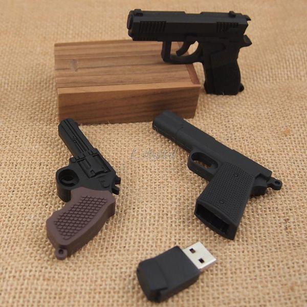 Productos calientes Pendrive plástico fresco AK47 pistola forma Submachine gun 4GB roscoe 64GB 8G 16G 32G usb 2.0 flash drive memoria creativa Stick / Disco