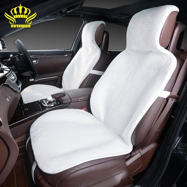 2Front siège de voiture couvre fausse fourrure mignonne voiture accessoires intérieurs housse de coussin styling hiver peluche housse de siège de voiture pour Tiida