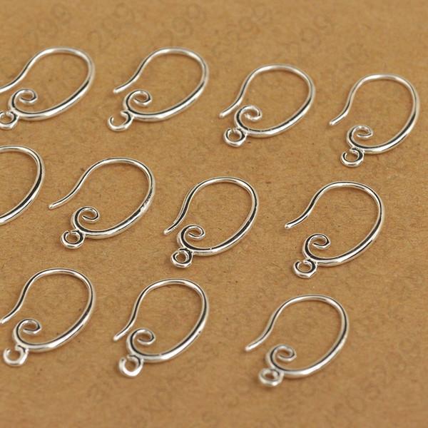wholesale Wholesale Price 925 Sterling Silver Hook Earring Earwire DIY Women Earrings Jewelry Finding Accessories 50PCS/Lot