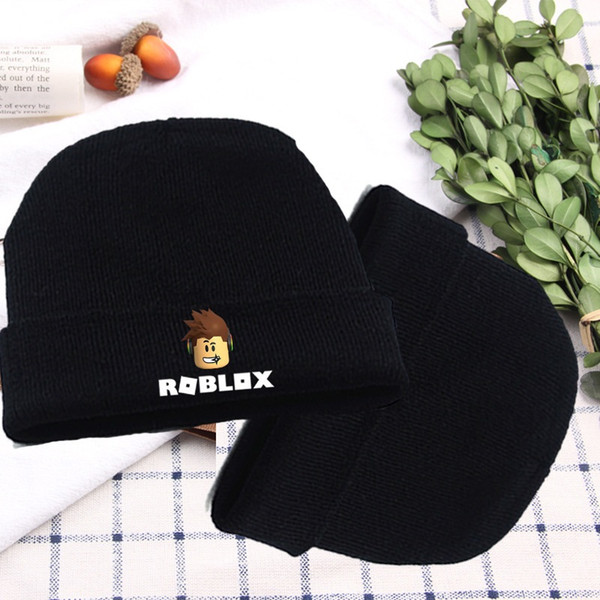 Roblox Games Hat Rock Band Symbol Knitted Cotton Hat Cap Cosplay Costume Unisex Cool Hat for Game Fan Gift