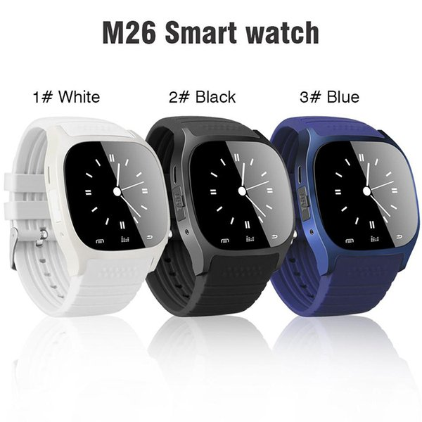 M26 smartwatch Wirelss Bluetooth Smart Watch Phone Bracelet Camera Remote Control Anti-lost alarm Barometer V8 A1 U8 watch for phone