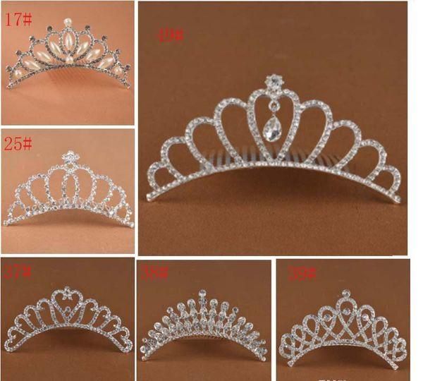 beautiful princess Crown Princess combs Mini Twinkle Rhinestone Diamante Bridal Princess Crown Hair Comb Hair Clip Tuck Tiara Party Wedding