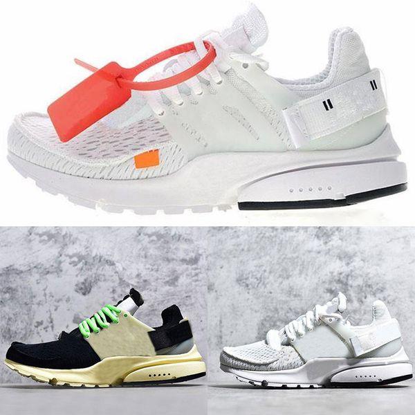 Erkek Sneaker Tripel Siyah Beyaz sarı Bayan QS eğitmen spor ayakkabı kapalı Presto Koşu Ayakkabı atletik Casual tasarımcı ayakkabıları Koşu EU36-46