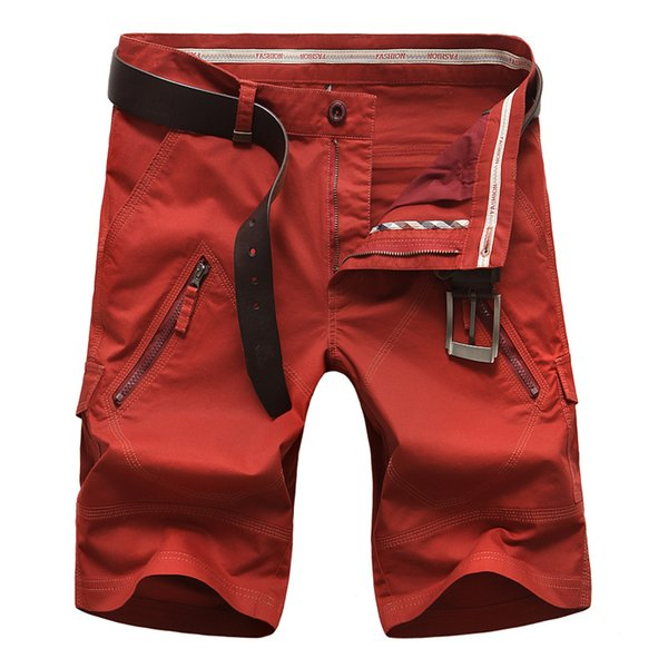 Icpans Casual Men Cargo Shorts Straight Loose Fashion Cotton Mans Short Trousers Bottoms Plus Size 42 44 Without Belt Q190514