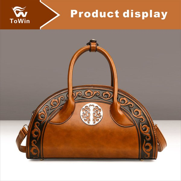 Brand New Crossbody Bags Women Luxury Chinese Style Solid Color Shell Bags Boston Bag PU Leather Shoulder Bag Casual Handbag Wallet Tote