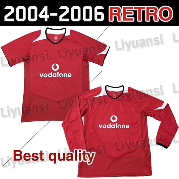 2004 06 temporada Manchester retro camiseta Rooney ropa de fútbol Van Nistelrooy retiró C Luo camiseta de manga corta