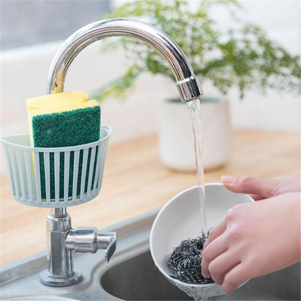 10PCS Plastic Buckle Type Storage Rack Sink Drain Rack Shelves Kitchen Bath Tools Soap Sponge Flatware Cosmetic Organizer Holder wh0595