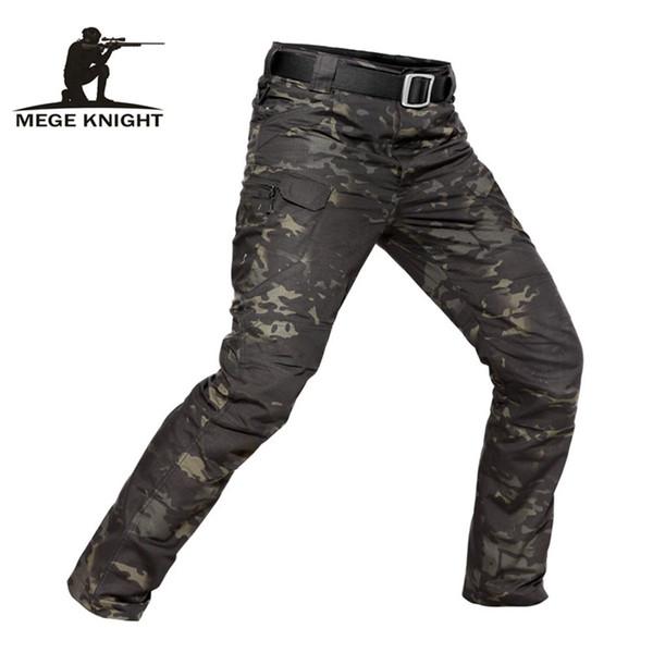 Mege Marca Camuflaje Táctico Militar Casual Combate Cargo Pantalones Repelente al Agua Ripstop Hombres 5xl Pantalones Primavera Otoño Y19042201