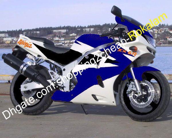Carénages ZX6R Pour Kawasaki Ninja ZX 6R 636 94 95 96 97 ZX6R ZX6R 1994 1995 1996 1997 Bleu Blanc ABS Set Carénage