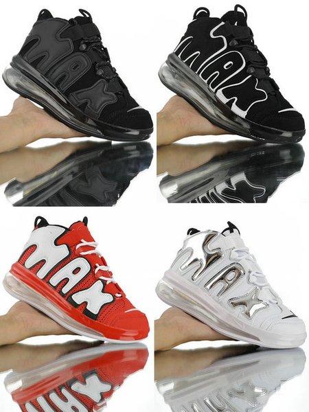 2019 yeni Hava Daha Uptempo erkekler basketbol ayakkabı yüksek kalite 720 QS hava yastığı pippen retro avant-garde koşu ayakkab ...