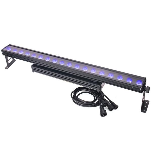 80% Off 18 * 10W LED RGB Wall Washer Bar Luz IP65 DMX512 Iluminação Cénica Pro som para Luces DJ Disco Party Wedding Evento Nightclub Aluguer