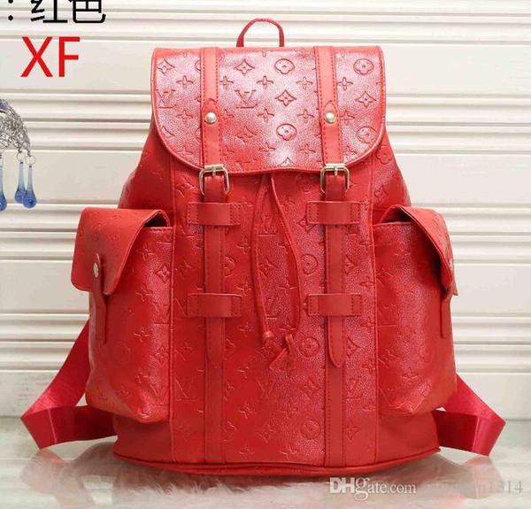 I progettisti Zaino di lusso del Mens zaino doppio di marca borse a spalla Scuola Classic Moda Borse Designers Shoulder Bag 41379