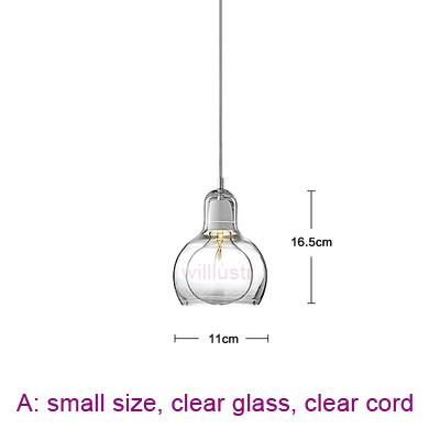 small, clear glass, clear cord