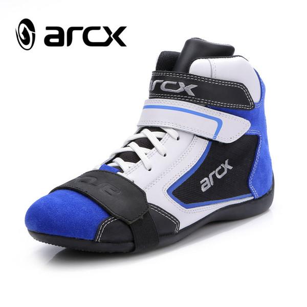come-si 2017 nuova pelle ARCX scarpe moto esterno anti-riding scarpe cavallo da corsa traspirante stivale da moto 39-46