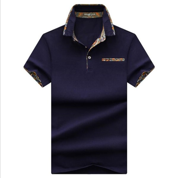 2019 summer new Brand clothing Men Polo Shirt Men Business Casual splice male polo shirt Short Sleeve High quality Pure Cotton tops tee
