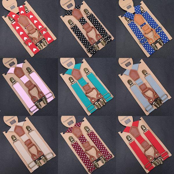 Kids Elastic Suspenders Lovely Children Matching Tuxedo Suit Unisex Boys Girls Wedding Costume Adjustable Y-Back Black Braces