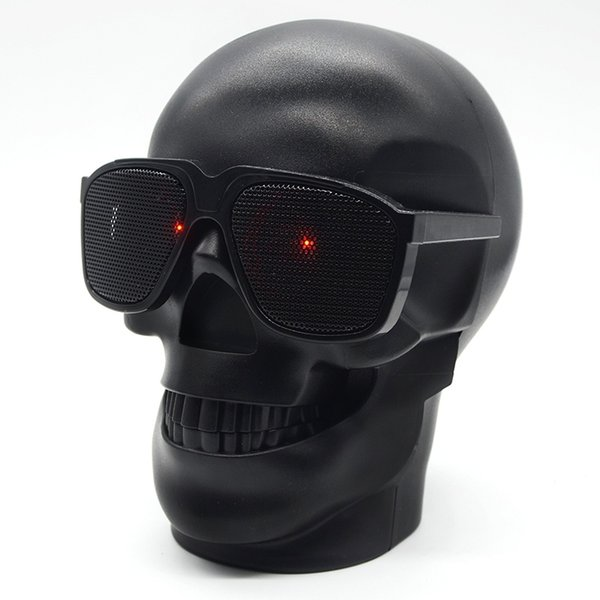 Skull Head Portable Wireless Bluetooth Speakers Bass Stereo for Mobile Phone/PC/Laptop/MP3/MP4 Player Free Shipping Black
