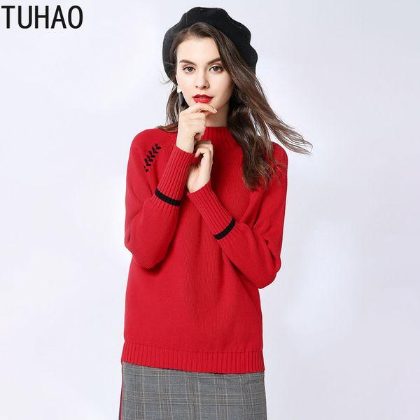 Triko kadının Güz ve Kış Giysileri Zarif Rahat Kazak Uzun Kollu Kadın Kazak T1830
