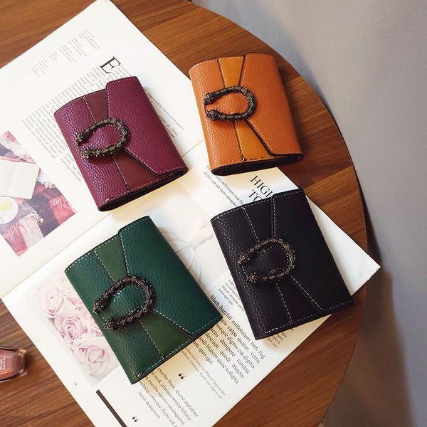 2019 free shipping lady long wallet multicolor designer coin purse Card holder original box women classic zipper pocke size2:12cm*9cm*2cm